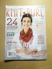 New listing Knit Purl Back Issue Magazine Fall Winter 2015 Big Gauge Knits 24 Projects