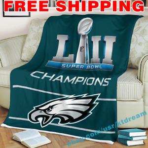 Philadelphia Eagles Super Bowl LII Champions Fleece Blanket Thin Quilt Cover
