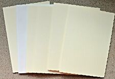 5 Advocate Ivory Deckle Edged Card Blanks With White Envelopes 178mm x 128mm