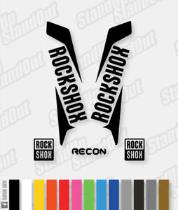 RockShox RECON 2015 2016 Style Decals Stickers - Custom / Fluorescent Colours