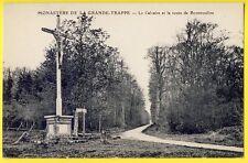 cpa 61 - SOLIGNY la TRAPPE (Orne) Le CALVAIRE route de BONSMOULINS the calvary