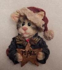 Boyds Magnet (Made From A Pin) Santa Cat, S.C. Jollyclaws, Peace,Christmas