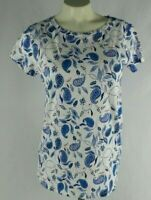 Ann Taylor Loft Vintage Soft Women's Short Sleeve Paisley Shirt Small