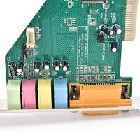 4 Channel 5.1 Surround 3D PCI Sound Audio Card MIDI for PC Windows XP/7/8/10