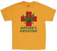 Men's t-shirt medical marijuana weed 420 cannabis pot leaf tee shirt legalize it