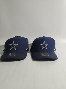 2 Dallas Cowboy Nike Aerobill Classic99 Dri-Fit Swoosh NFL Team Apparel Flex Hat