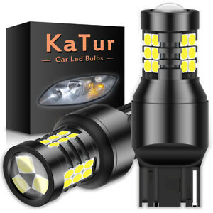 2X 7443 7440 T20 LED Backup Reverse Light Bulb 6500K Super White ERROR FREE Lamp