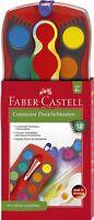 Deckfarbkasten Faber-Castell Connector 12 Farben + Deckweiß Tuschkasten