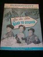 "Antique SHEET MUSIC Movie ""The Road to Utopia"" ""Personality"" Crosby, Hope"