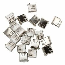 20 Pcs USB Female Type A 4-Pin DIP Right Angle Plug Jack Connector M3D2