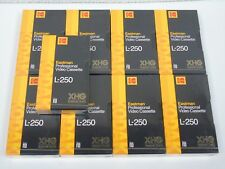 9 Brand New Sealed KODAK Broadcast Quality XHG L-250 BETAMAX Video Cassette Tape