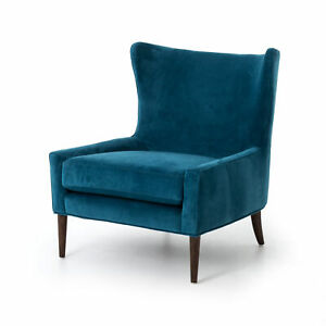 """35"""" L Nontue Wing Chair Occasional 100% Polyester Parawood Bella Bayoux Almond"""