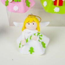 Christmas Tree Pendant Angel Doll Ornament Ceramic Cute Girl Home Decorations