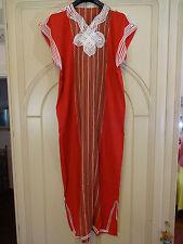 abito vestito caftano marocchino rosso originale NUOVO mai usato CARNEVALE DONNA