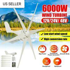 6000W Wind Turbines Generator 24V 6 Blade Wind Turbines Horizontal Home Powers W