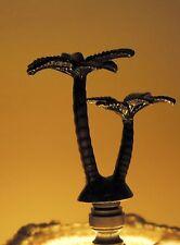 Tropical Shade Finial Bronze Palm Tree Lamp Finial Parts repairs Beach House