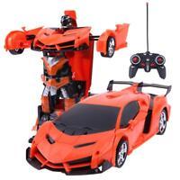2 in 1 Wireless RC Fernbedienung Auto Modell Verformung Roboter Kinder Spielzeug