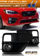 For 2015-2017 Subaru Impreza WRX Clear Fog Light Kit Full Complete Kit + LED Kit