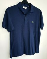 LACOSTE MENS POLO SHIRT TOP M (4) NAVY BLUE SHORT SLEEVE 844
