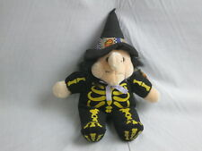 A&A PLUSH GOLD SKELETON COSTUME HALLOWEEN WITCH HAT PLUSH GLOW-IN-THE-DARK DOLL