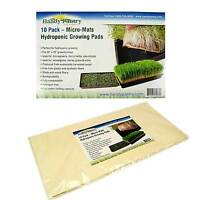 "HYDROPONIC GROWING PADS -  BIODEGRADABLE MICRO MATS SEED GROW STARTER - 20""x10"""
