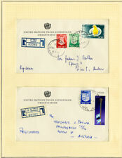 Israel Rare Un Truce Supervision Organization Registered 2 Covers