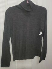 DKNY NWT Dark Charcoal Turtleneck 100% Wool Size Small