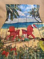 Toland Christmas Paradise 12.5 x 18 Tropical Beach Adirondack Garden Flag