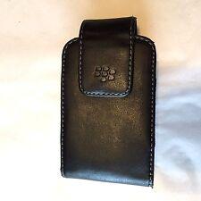 "BlackBerry Case / Holder Black Leather w Belt Clip 4"" x 2.5"""