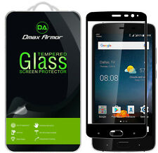2X Dmax Armor ZTE Blade V8 Pro Tempered Glass Screen Protector Full Cover-Black