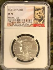 1998 S Matte  Kennedy, NGC Graded SP 70