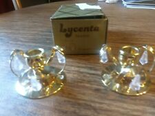 Set of Lycenta candlestick holders 24 carat gold plated 1984