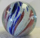 #13012m Huge 2.06 In Vintage German Handmade Slightly Shrunken Onionskin Marble