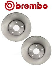 Pair Set of 2 Front Disc Brake Rotors Vented Coated Brembo For Lexus GS IS LS SC