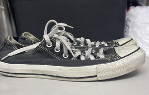 Converse All Star Unisex Used Canvas Sneakers Black Size 8.5M/10.5W