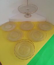 Glass Party Cake Stand with 12 Plates (Lyre)