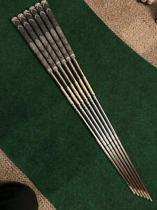 """Lightly Used Dynamic Gold 105 (S300) Iron Shafts 5-PW  .355"""" tip"""