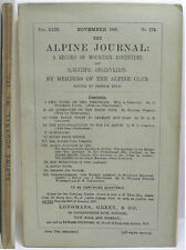 1906 ALPINE JOURNAL 174 A RECORD OF MOUNTAIN ADVENTURE  & SCIENTIFIC OBSERVATION