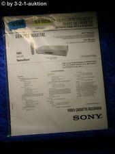 Sony Service Manual SLV SE230 SE430 SE630 SE730 SE737 SE830 SX730 SX737 (#5148)