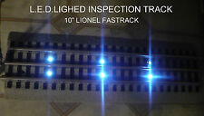 "NEW LED Lighted 10"" Inspection Track. Lionel FasTrack Straight (Fast Track)"