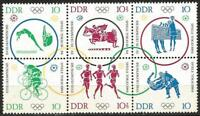 Germany East DDR GDR 1964 MNH Olympic Games Tokyo Block of 6