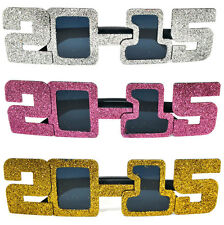 3 Pairs New Years Eve Novelty Sun Glasses Class of 2015 Graduation Party