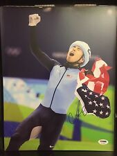 APOLO ANTON OHNO Autograph Signed 11x14 Photo Picture USA Olympics Speed PSA/DNA