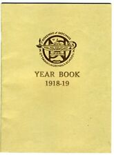 YEAR BOOK OF THE OTTAWA NORMAL SCHOOL 1918-19 Canada WW1 Era Women Mostly