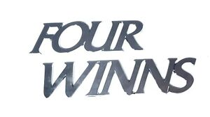 Four Winns Raised Emblem/Applique/Decal - Mirrored Chrome Plastic Letters