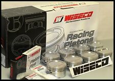 SBC CHEVY 350 WISECO FORGED PISTONS & RINGS STD BORE -10cc RD DISH TOP KP421AS