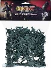160 Piece Plastic Toy Soldiers Bag Combat Mission Traditional Green Army Soldier