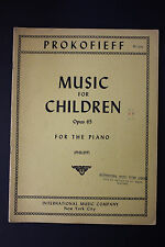 SHEET MUSIC BOOK: Prokofieff Music for Children op.65 for Piano Intl. Music co