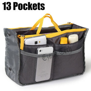 Womens Travel Insert Handbag Organiser Purse Large Liner Organizer Tidy Bag