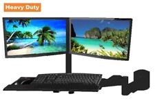 EZM Dual LCD/LED/Plasma/Flat Panel Monitor and Keyboard Wall Mount (002-0040)